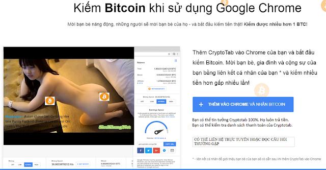 Kiếm Bitcoin khi sử dụng Chrome