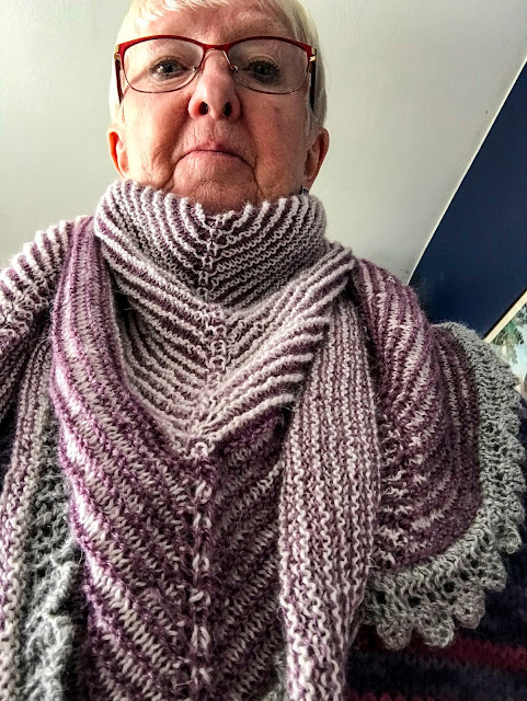 sjal, shawl, skymning