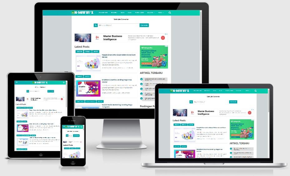 Safelink Viomagz Blogger Template