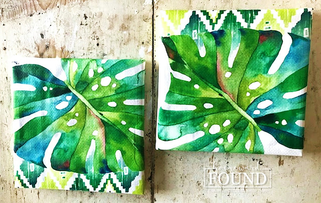art, art class, boho style, color, crafting, DIY, diy decorating, dollar store crafts, gift wrapping, paper crafts, re-purposing, summer, tiki style, tropical style, up-cycling, wall art, tropical leaf wall art