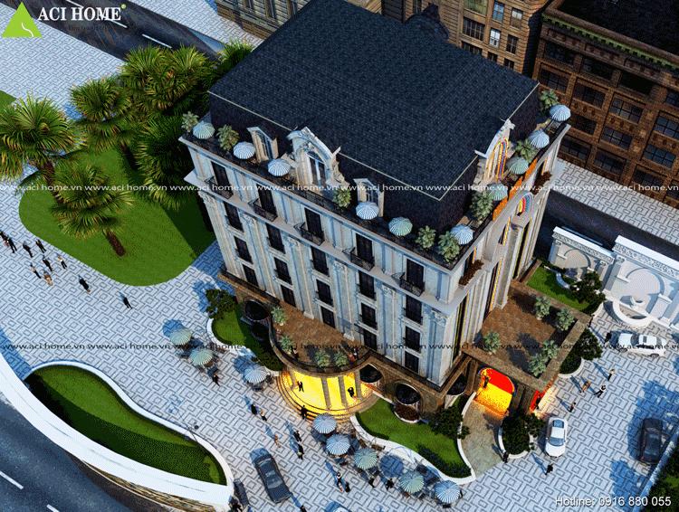 Thiết kế ấn tượng khách sạn Quang Trung