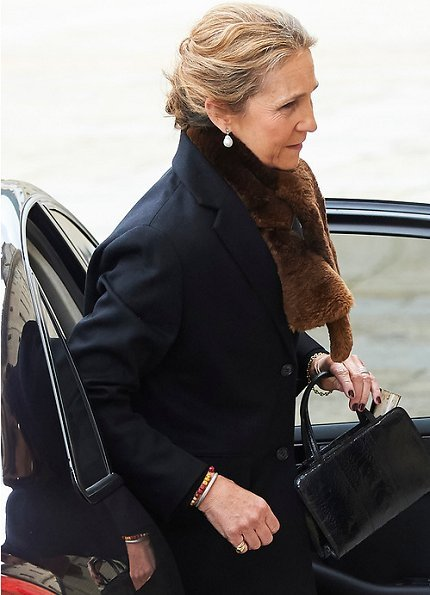 King Felipe, Queen Letizia, King Juan Carlos, Queen Sofia, Infanta Elena and Infanta Cristina attended memorial event at El Escorial Monastery