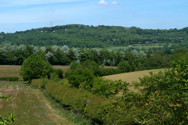 countryside near bletchingley with the A25 in the distance
