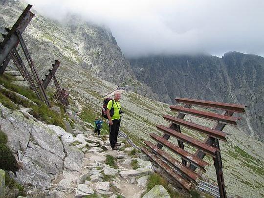 Szlak na Łomnickiej Grani.