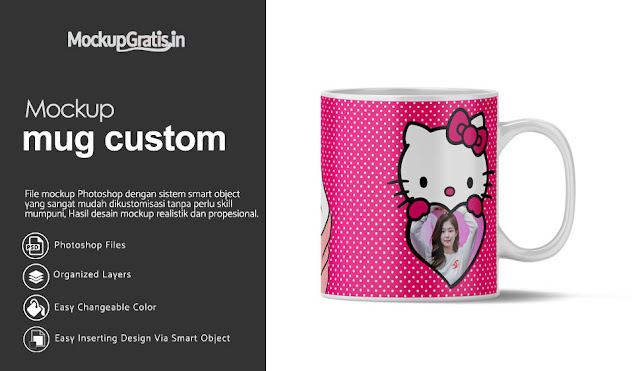 Mockup Mug Custom Gratis