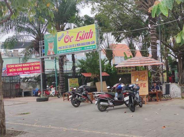 Địa chỉ quán Ốc Linh: 169 Trần Não, Bình An, Quận 2