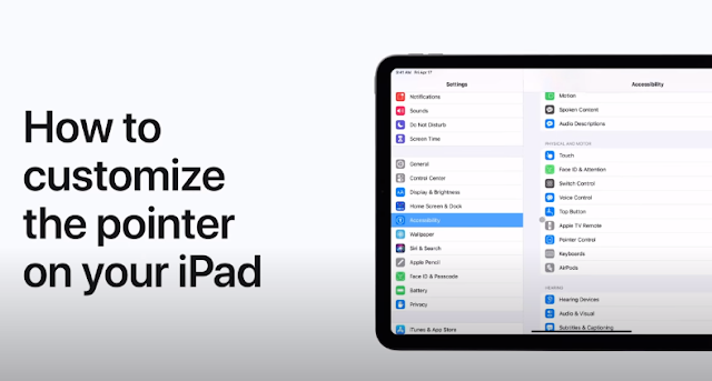 How to customize the pointer on your iPad - Qasimtricks.com