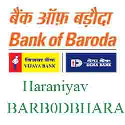 New IFSC Code Dena Bank of Baroda Haraniyav