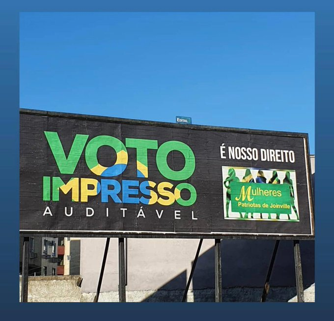 Outdoor: luta pelo voto impresso ganha corpo no país