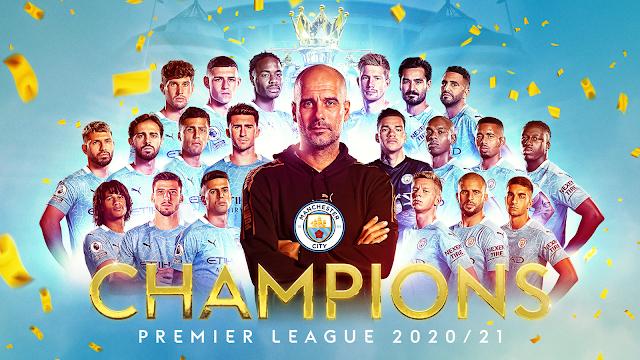 Manchester City team that won the 2020/21 Premier League title