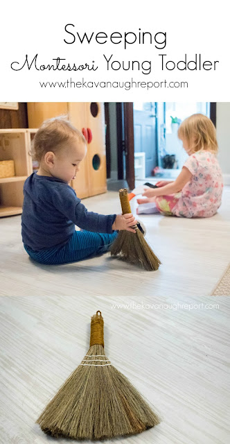 Early sweeping with a young Montessori toddler or baby - 3 things to keep in mind when starting practical life work