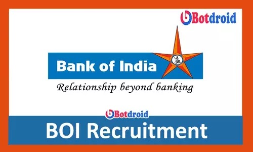 Bank of India Recruitment 2021, Apply online for Bank of India Jobs, BOI Career