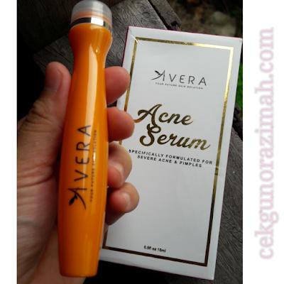 avera acne serum, jerawat hilang, jerawat surut, cara hilangkan jerawat, review avera acne serum