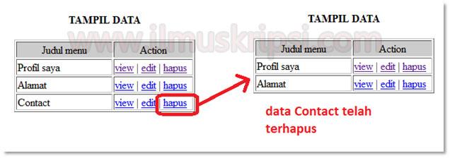 Membuat Delete / Hapus Data dengan PHP dan Database MySQL