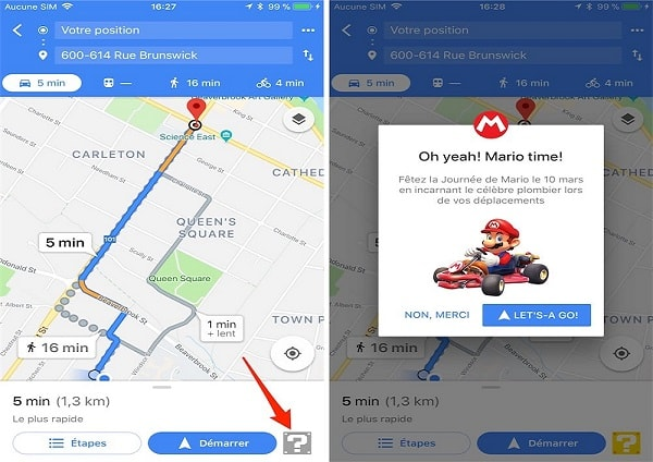 Super Mario will be in Google Maps this week