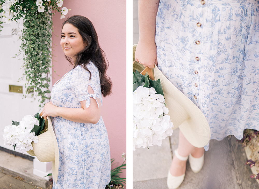 toile-blue-white-dress-ootd-classic-style-Barely-There-Beauty-blog