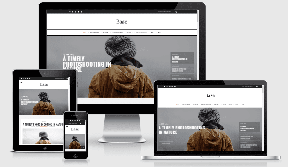 Base Responsive Modern Blogger Theme