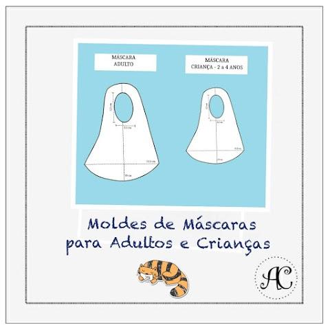 Moldes de Máscaras para crianças e adultos para proteção ao COVID-19!