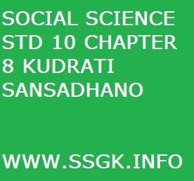 SOCIAL SCIENCE STD 10 CHAPTER 8 KUDRATI SANSADHANO
