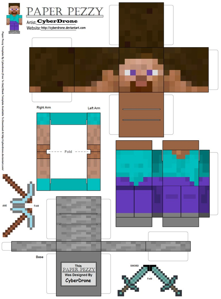 Minecraft Party: Free Printable Boxes. - Oh My Fiesta! for ... Captainsparklez Skin Template