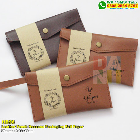 Leather Pouch Hossana Packaging Roll Paper