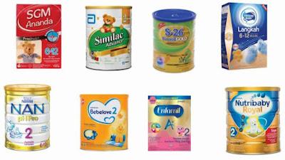 Jenis-Jenis Susu Formula Untuk Bayi