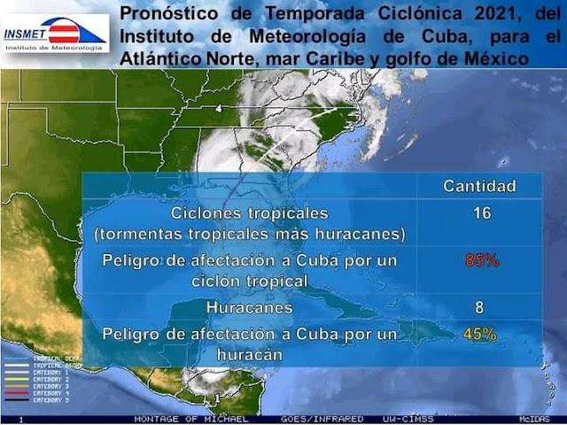 La temporada ciclónica del 2021 será activa: INSMET Cuba