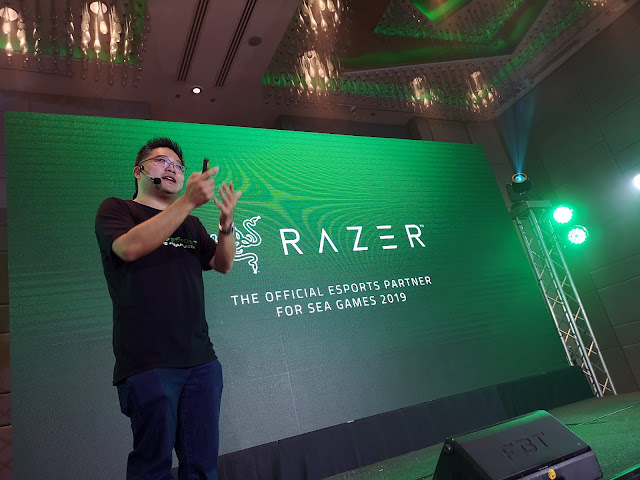Razer Chief Strategy Officer Li Meng Li formally announces that Razer is the official espo Games : Razer - SEA Games 2019 Official Esports Partner