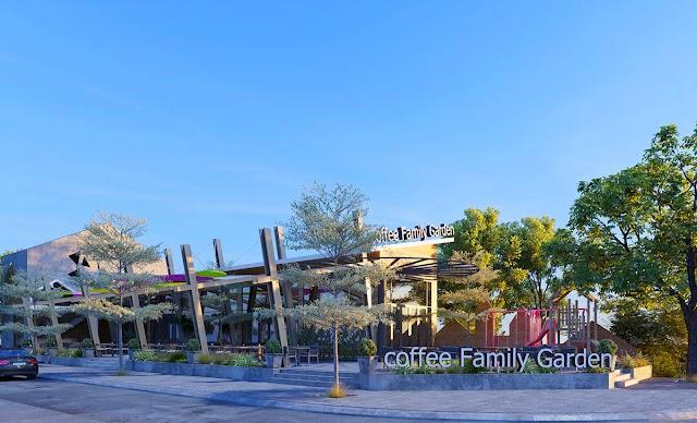 Mô hình quán cà phê vườn đẹp kèm file mẫu 3dsmax