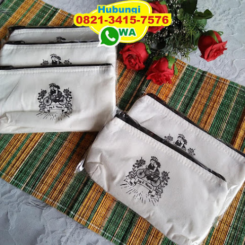 toko Dompet atau Pouch Blacu Tepong Lapis Busa Murah Meriah