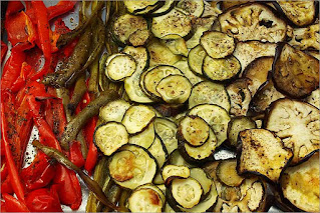 Fotografía de una parrillada de verduras