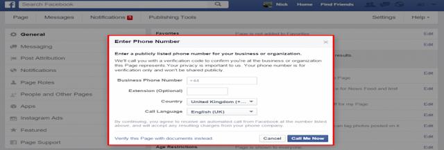 FB Verification Option