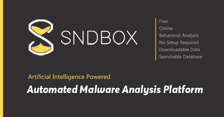 SNDBOX automated malware analysis tool