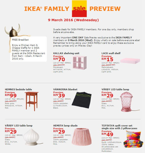 Ikea 3 winrayland for Coupon mobile ikea
