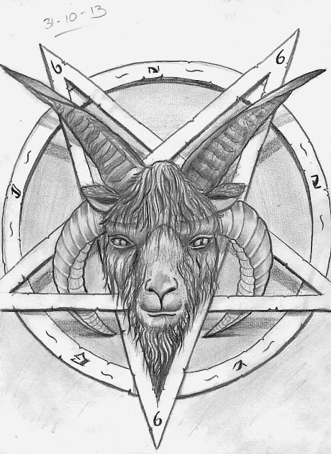 Evil goat tattoo - photo#52