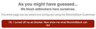 hasil pemasangan script blockadblock di blogspot
