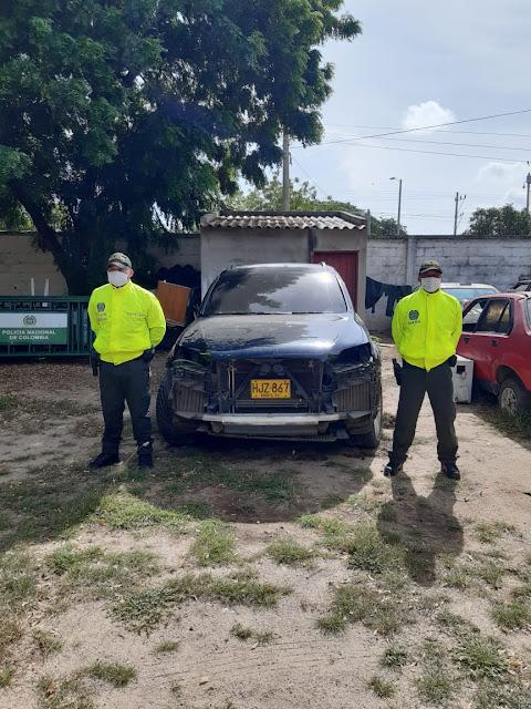 hoyennoticia.com, Carro robado en Valledupar es encontrado en San Juan del Cesar-Guajira