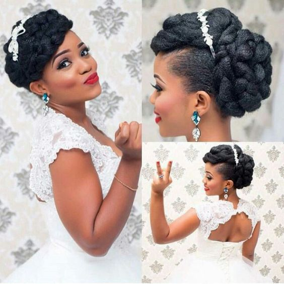 Make Your Wedding Unique Brides Hair Styles For Natural Hair