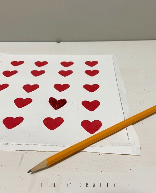 How to reverse frame canvas heart art