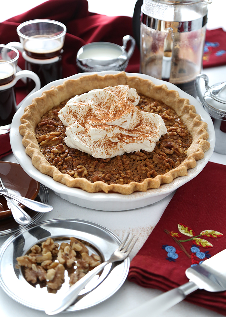 Maple Caramel Walnut Pie