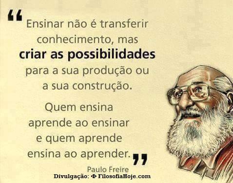 Filosofia Hoje Paulo Freire Ensinar Não é Transferir