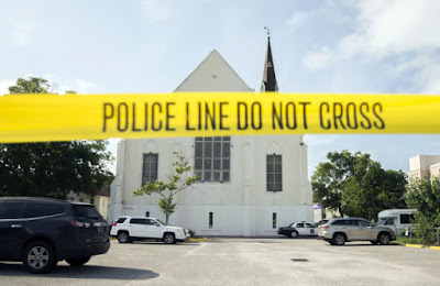 The AME Emanuel Church in Charleston where 9 were killed in June 2015