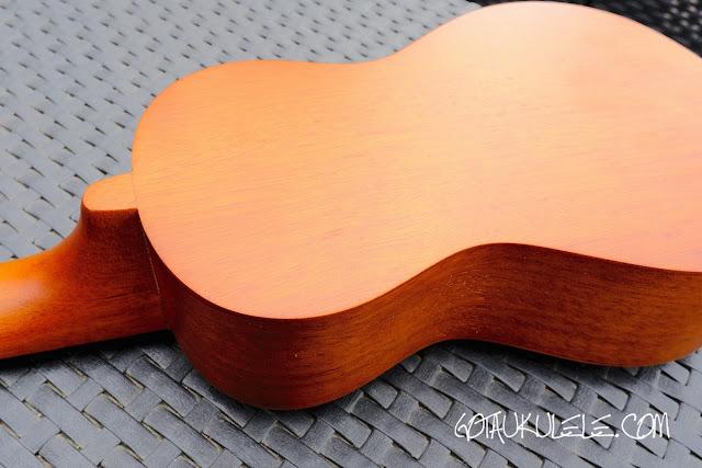 kahuna laser etched soprano ukulele back