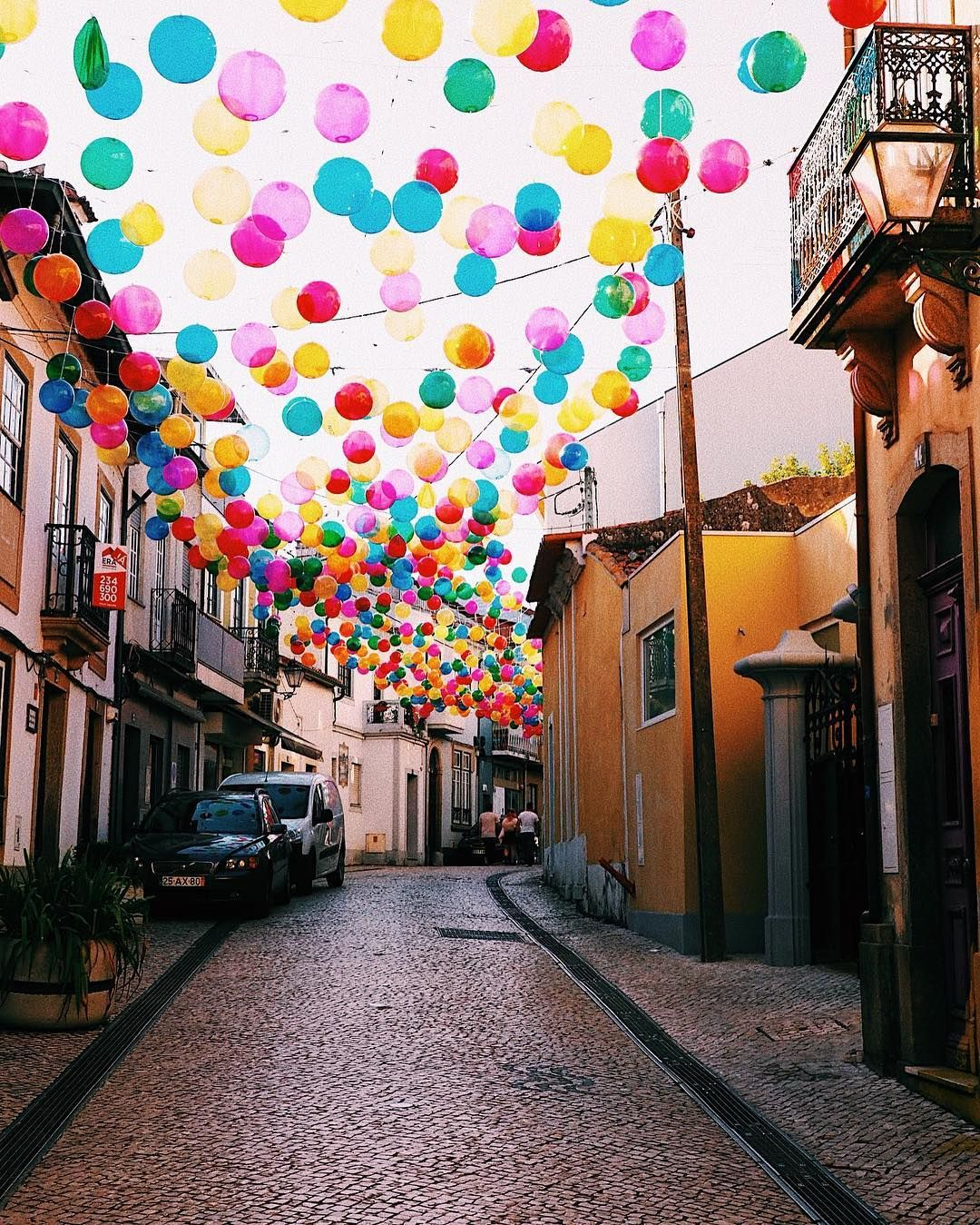 Color & imagination take over the city of Águeda in Portugal wallpaper
