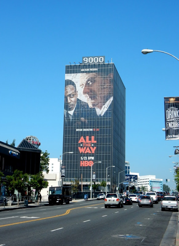 Giant All The Way movie billboard Sunset Strip