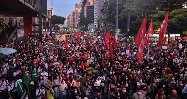 Foto das manifestações do Fora Bolsonaro do dia 29/05/2021