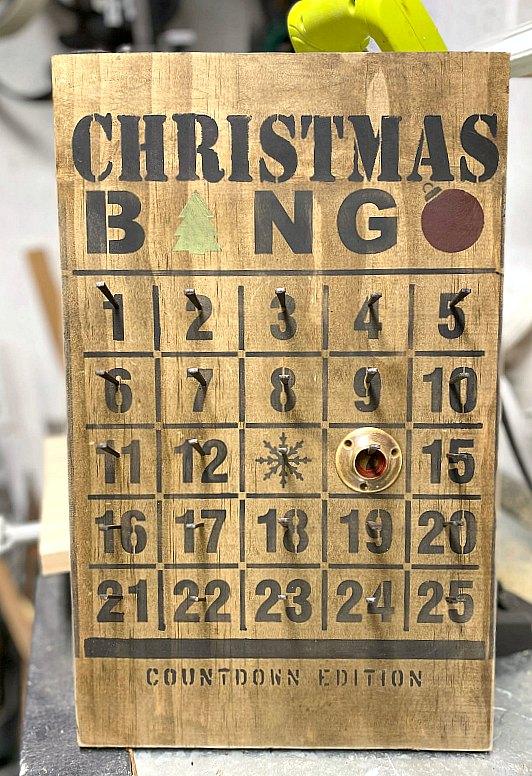 DIY Rustic Vintage Nail Bingo Advent Calendar