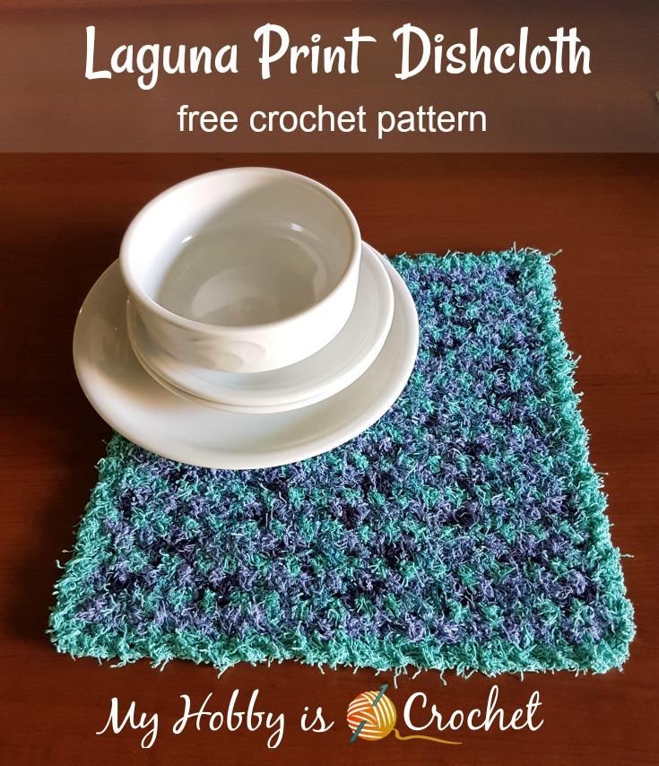 Laguna Print Dishcloth - Free Crochet Pattern on myhobbyiscrochet.com