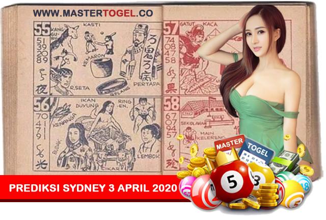 Prediksi Togel Sydney 3 April 2020 Jum'at