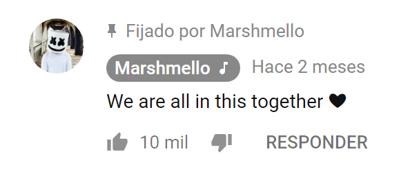 "Marshmello comenta en el vídeo musical ""You Can Cry"" que estamos todos juntos en esto"